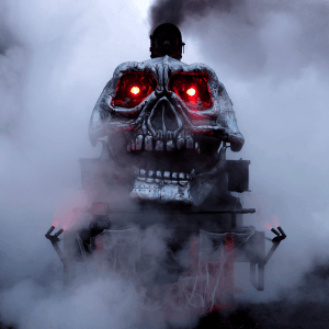 The Ghost Train at Tweetsie Railroad, Blowing Rock, North Carolina
