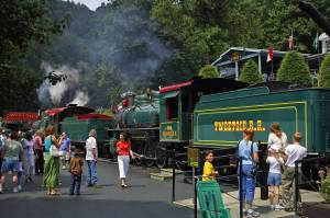Doubleheader at Tweetsie Railroad