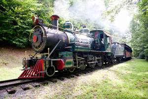Historic coal-powered steam locomotive, No. 12,  at Tweetsie Railroad, Blowing Rock, North Carolina.